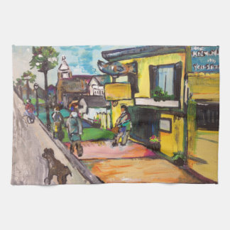 Key West Painting Hand Towel