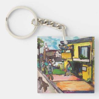 Key West Painting Keychain