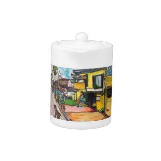 Key West Painting Teapot