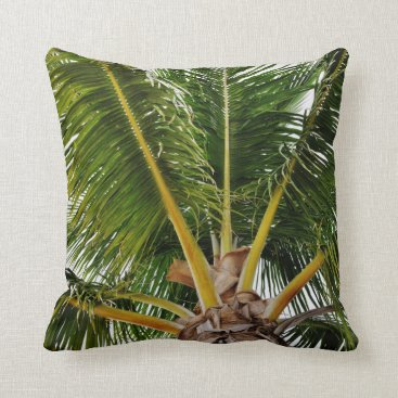 Beach Themed Key West Palm tree Throw Pillow