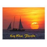 Key West, postal de la puesta del sol de la Florid
