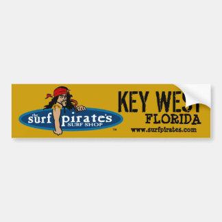Key West practica surf a la pegatina para el parac Pegatina Para Auto