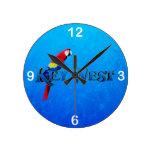 Key West Round Wall Clocks