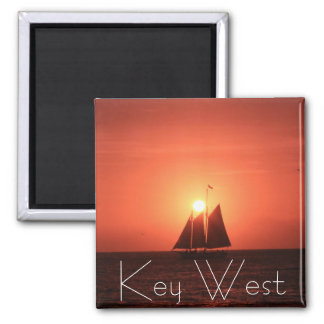 Key West, Sailboat at Sunset Magnet Refrigerator Magnet