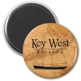 Key West Sailing 2 Inch Round Magnet