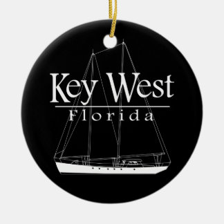 Key West Sailing Double-Sided Ceramic Round Christmas Ornament