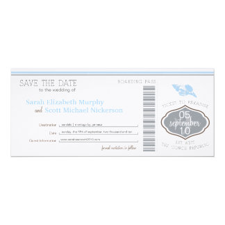 Key West Save the Date Boarding Pass Card