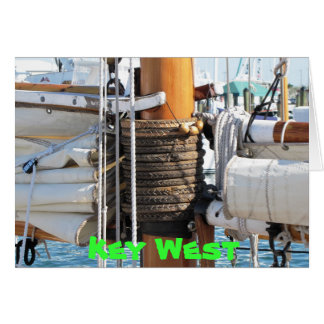 Key West Schooner Card