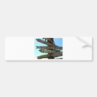 Key West Signs Car Bumper Sticker