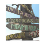 Key West Signs Note Pad