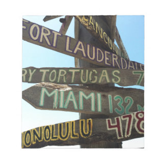 Key West Signs Notepad
