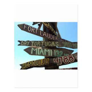 Key West Signs Postcard
