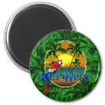 Key West Sunset 2 Inch Round Magnet