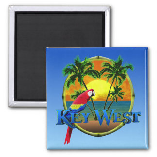 Key West Sunset 2 Inch Square Magnet