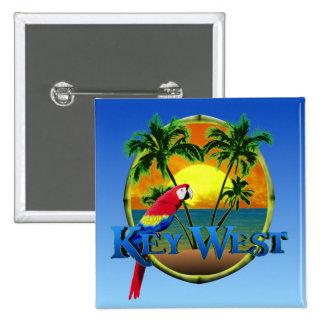 Key West Sunset Pinback Buttons