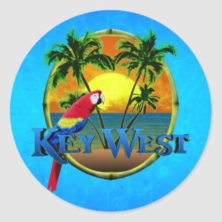 Key West Sunset Classic Round Sticker