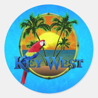 Key West Sunset Classic Round Sticker
