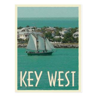 Key West Sunset Key vintage style Postcard