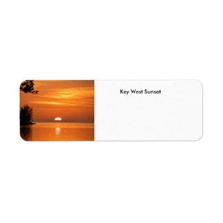 Key West Sunset Label