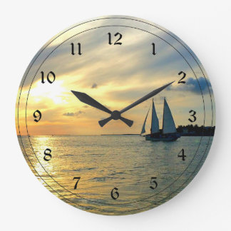 Key West Sunset Large Clock