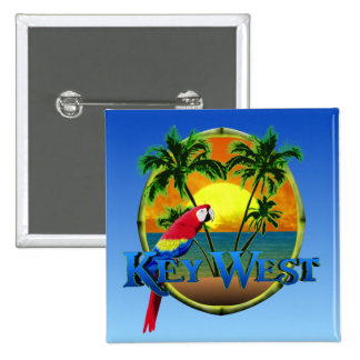 Key West Sunset Pinback Button