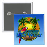 Key West Sunset Pinback Buttons