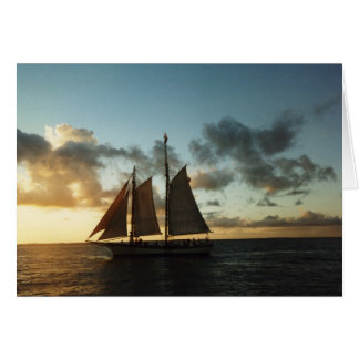 Key West Sunset Sail Photo Greeting Card