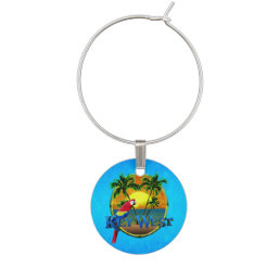 Key West Sunset Wine Charm