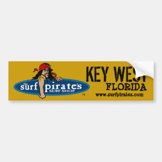 Key West Surf Shop Bumper Sticker Car Bumper Sticker
