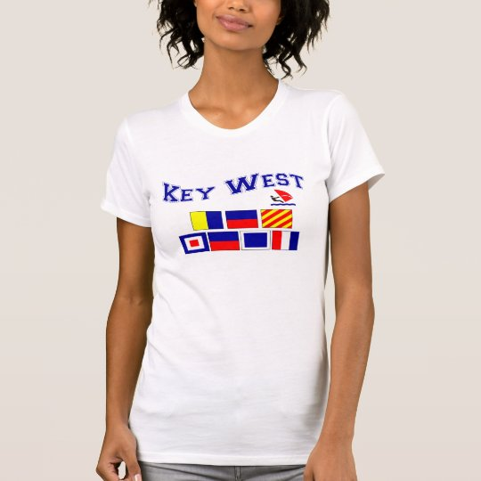 Key West  w/ Maritime Flags T-Shirt