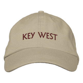 Key West Wording Custom Color and Text Embroidered Hats