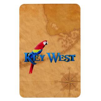 Key West y mapa Imán De Vinilo