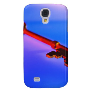 KEY WITH BLUE BACKGROUND GALAXY S4 COVER