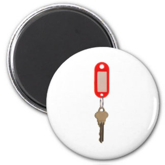 Key with key tag 2 inch round magnet