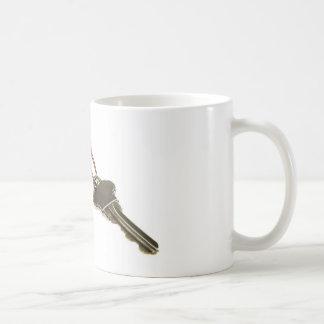 Key with key tag coffee mug