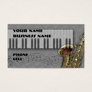 Keybaord & Saxophone - Music Business Card