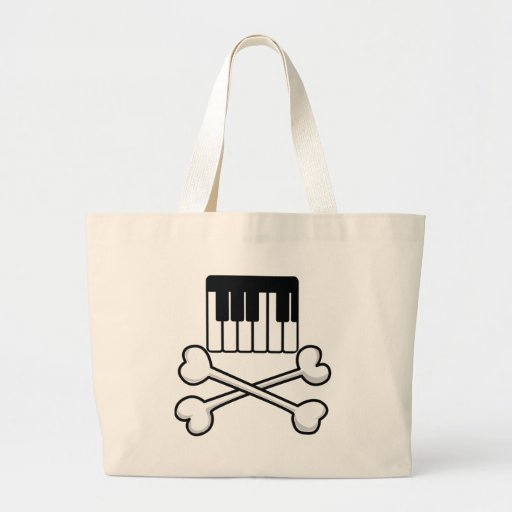 Keyboard and Crossbones Jumbo Tote Bag