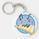 keyboard and music notes design keychains