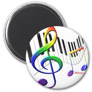 Keyboard and Treble Clef Magnet