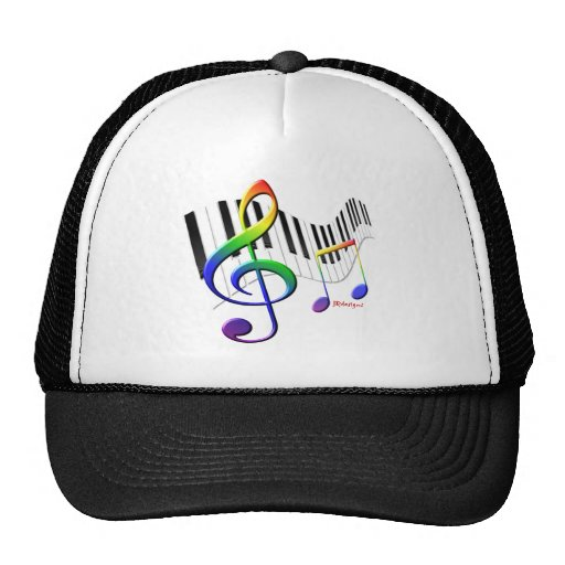 Keyboard and Treble Clef Trucker Hat