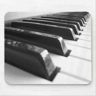 Keyboard - Black and White Mouse Pad