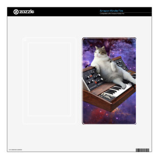 keyboard cat - cat memes - crazy cat decal for kindle fire