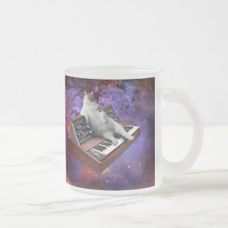 keyboard cat - cat memes - crazy cat frosted glass coffee mug