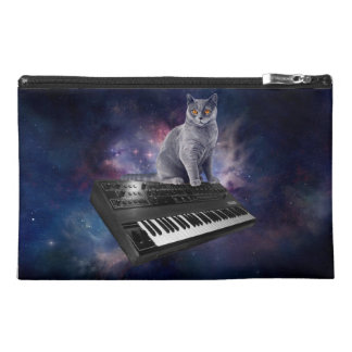 keyboard cat - cat music - space cat travel accessory bag