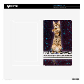 keyboard cat - funny cats  - cat lovers kindle fire decals