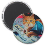 Keyboard Cat Painting Gear Refrigerator Magnets