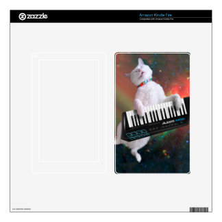 Keyboard cat - space cat - funny cats - galaxy cat kindle fire decal