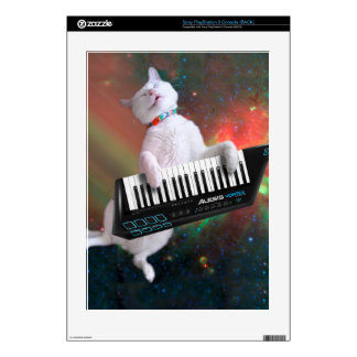 Keyboard cat - space cat - funny cats - galaxy cat PS3 console skins