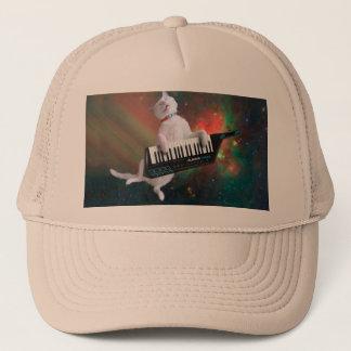 Keyboard cat - space cat - funny cats - galaxy cat trucker hat