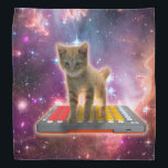 """keyboard cat - tabby cat - kitty bandana<br><div class=""""desc"""">cat , pet , kittens , &quot;cute cats&quot; , &quot;funny cats&quot; , &quot;orange cat &quot;, &quot;space cat&quot; , &quot;cat love&quot; , &quot;cat space&quot; , &quot;cats in space &quot;</div>"""